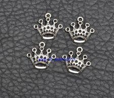 40PCS Tibetan Silver crown charms pendant pendants Jewelry Finding 17x18mm G3415