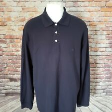 BROOKS BROTHERS MEN'S COTTON PERFORMANCE LONG SLEEVE POLO SHIRT SIZE L A63-29