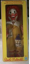 Vintage 1978 Hasbro Ronald McDonald #4800 With Whistle, Grimace In Pocket, & Box