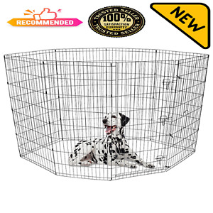 """Pet Exercise Play Pen Indoor and Outdoor Foldable 4 Shapes Vibrant Life 48""""H"""