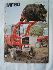 @Massey Ferguson MF 80 Loader Spec/Sales Sheet @