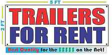 TRAILERS FOR RENT Banner Sign NEW 2x5