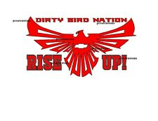 Atlanta Falcons Dirty Birds Rise Up Vinyl Decal-Chevy,Honda,Toyota,Dodge,Benz Et