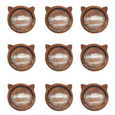 10pcs Brown Colors Wood Cat Head 12mm Bezel Base Tray Setting DIY Accessories