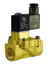 "Brass Electric Air Water Solenoid Power Save Process Valve 1/2"" Inch 24V Dc"