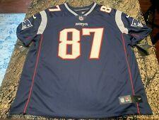 Nike Rob Gronkowski Stitched Home Jersey Size 3XL Navy Blue New England Patriots