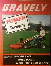 Gravely L LI LS 1960 6.6-HP Lawn Garden Tractor Color Sales Manual 24pg MOW SNOW