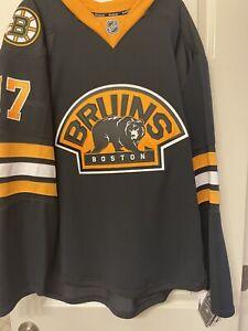 Reebok NHL Milan Lucic Authentic MIC Boston Bruins Alternate 3rd Jersey Sz 56