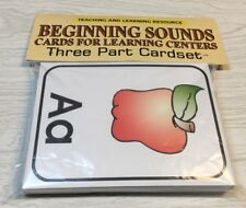 Beginning Sound - Cards for Learning Center - Three Part Card set - Montessori