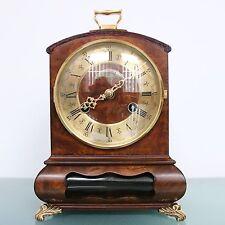 WARMINK WUBA BIEDEMEIJER Mantel Clock Dutch Vintage HIGH GLOSS DOUBLE BELL Chime