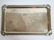 Plateau rectangulaire WMF Art-Nouveau Jugendstil en métal argenté vers 1910/1920