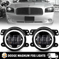 "4"" Round Fog Light Front Bumper Driving LED Passing Light For 05-08 Dodge Magnum"
