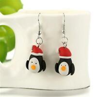 mit haken pinguin - muster ohr - hengst polymer clay weihnachten ohrringe