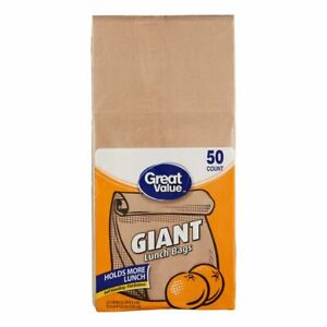 Giant Lunch Paper Bags, Self Standing Giant Lunch Bags, 50 pcs