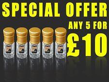 Perfume Oil Special Offer - Any 5 3ml Bottles For £10.00