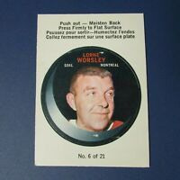 LORNE GUMP WORSLEY 1968-69 O-Pee-Chee PUCK STICKERS # 6  Montreal Canadiens OPC