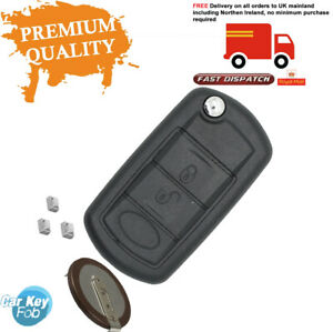 FITS Range Rover 3 BUTTON KEY FOB  Remote Control Shell case Fix Repair Kit