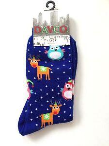 """DAVCO Ankle-High Novelty """"Dotty Deer Owl"""" Socks"""