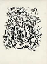 """Karl Caspar original lithograph """"Johannes auf Patmos"""""""