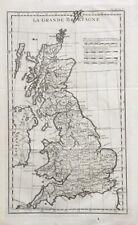 Ancienne CARTE DE LA GRANDE BRETAGNE POLAN Angleterre Irlande Royaume uni