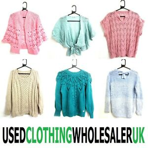 18 VINTAGE KNIT STYLE JUMPERS CARDIGANS WOMEN'S WHOLESALE CLOTHING JOB LOT