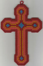 New listing Cross Wallhanging In Plastic Canvas
