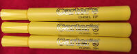 Lot Of 3 Yellow Dennison CARTER'S Chisel Tip Permanent Marker Collectible