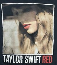 """TAYLOR SWIFT (2013) Official """"Red"""" Women's Concert Tour T-Shirt Size Small"""