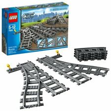 Lego City Retired Switch Tracks 7895 ~ Left & Right Switch + 4 Curve BNIB