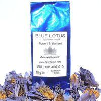 Blu di Loto 10 Grams Tritato Fiori (Nymphaea Caerulea) Anti Stress