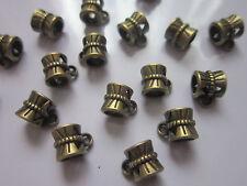 20 Tibetana Estilo Perchas De Bronce Antigua de los resultados de la fabricación de joyas de orificio grande