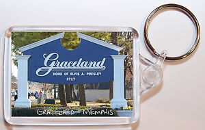 Graceland - Elvis / Memphis - Tennessee - USA - Double Sided Large Keyring Gift