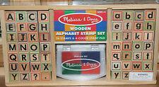 Melissa & Doug Wooden Alphabet Stamp Set - NIP!