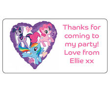 My Little Pony Personalised Labels Thank You Party Address Stickers 34x64mm -067