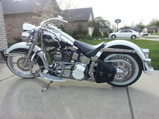Harley Softail Hardtail LEFT Side BLACK SOLO BAG - SHL01 BAD&G CustomS