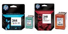 GENUINE HP 344 COLOUR + HP 348 PHOTO INK CARTRIDGES 2 YEAR GUARANTEE FASTPOSTAGE