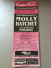 MOLLY HATCHET   1991  NEUMARKT     ++  ORIGINAL CONCERT - KONZERT - Ticket
