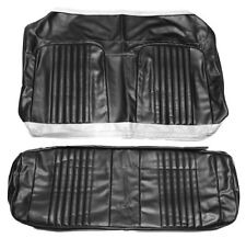 1971 1972 El Camino SS396 SuperSport Coupe Rear Seat Covers Black PUI 71AS10C