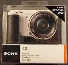 Genuine Sony LCS-EBD Black Camera Body Case NEX ILCE-5100, 5000, NEW !!!