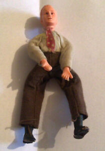 Old Dressed Small Figure/doll Four Inches High