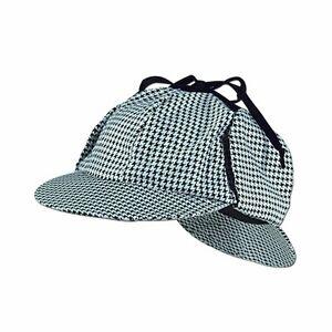 Sherlock Holmes Cap Detective Hat Doctor Costume Adult Deerstalker Houndstooth