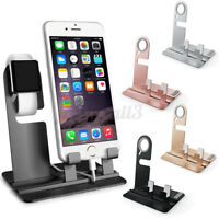 Charger Holder Stand Charging Steel Dock Station For iWatch iPhone 11 Xs Max