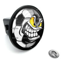"2"" Tow Hitch Receiver Plug Cover Insert For SUV's & Trucks - ""SOCCER SKULL"""