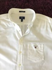 Smart 100% Genuine Mens Gant Short Sleeved White 'Oxford' Shirt In 2XL