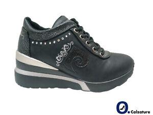 Scarpe Casual Donna Pierre Cardin Sneakers sportive con Cerniera Zeppa Platform