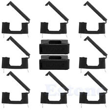 10Pcs Fuse Holder With Cover Chassis/Panel Mount BLX-A Black Fr PCB Board 5x20mm