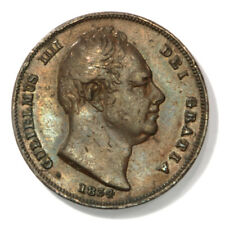 Great Britain William IIII Farthing from 1834 in Extra Fine Condition, KM# 705