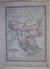 1864 TURCHIA D'EUROPA Vuillemin Guigoni Doyen Turkey Türkiye Ελλάδα България