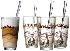 Ritzenhoff Breker Latte Macchiato Gläser-Set Löffel Kaffe Tee Gläser