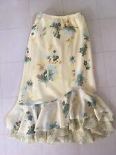 Tailor B Moss yellow Long floral ruffle skirt size 2 Women's